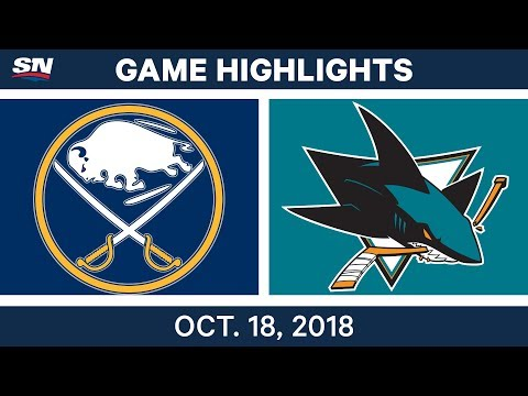 NHL Highlights | Sabres vs. Sharks - Oct. 18, 2018