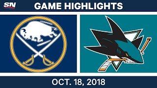 NHL Highlights | Sabres vs. Sharks - Oct. 18, 2018