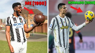 I Tested Footballs from 1900 to 2021 - what's the difference? (Shoot Like Messi & Ronaldo)