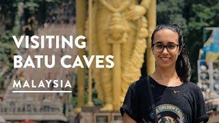 GIANT BATU CAVES STATUE & TEMPLE 🦇 Kuala Lumpur Travel Vlog 085, 2017 | Malaysia