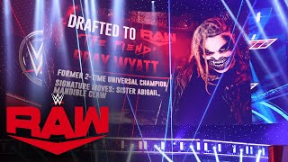 The Fiend comes to Raw as the WWE Draft continues: Raw, Oct. 12, 2020