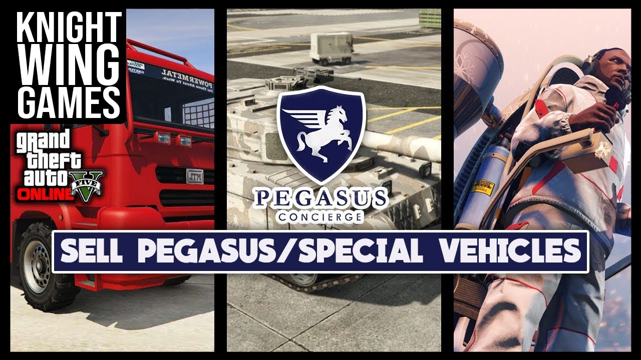 HOW TO SELL YOUR PEGASUS VEHICLES IN GTA 5 ONLINE - YouTube