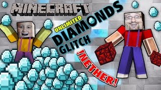 Unlimited Diamonds Glitch & Nether Reactor (Dad & Mike play Minecraft PE Duplication Trick) thumbnail
