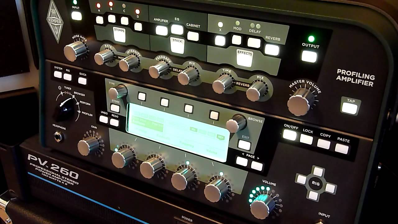 Kemper Profiling Amp With Power Amp And Cabs Youtube