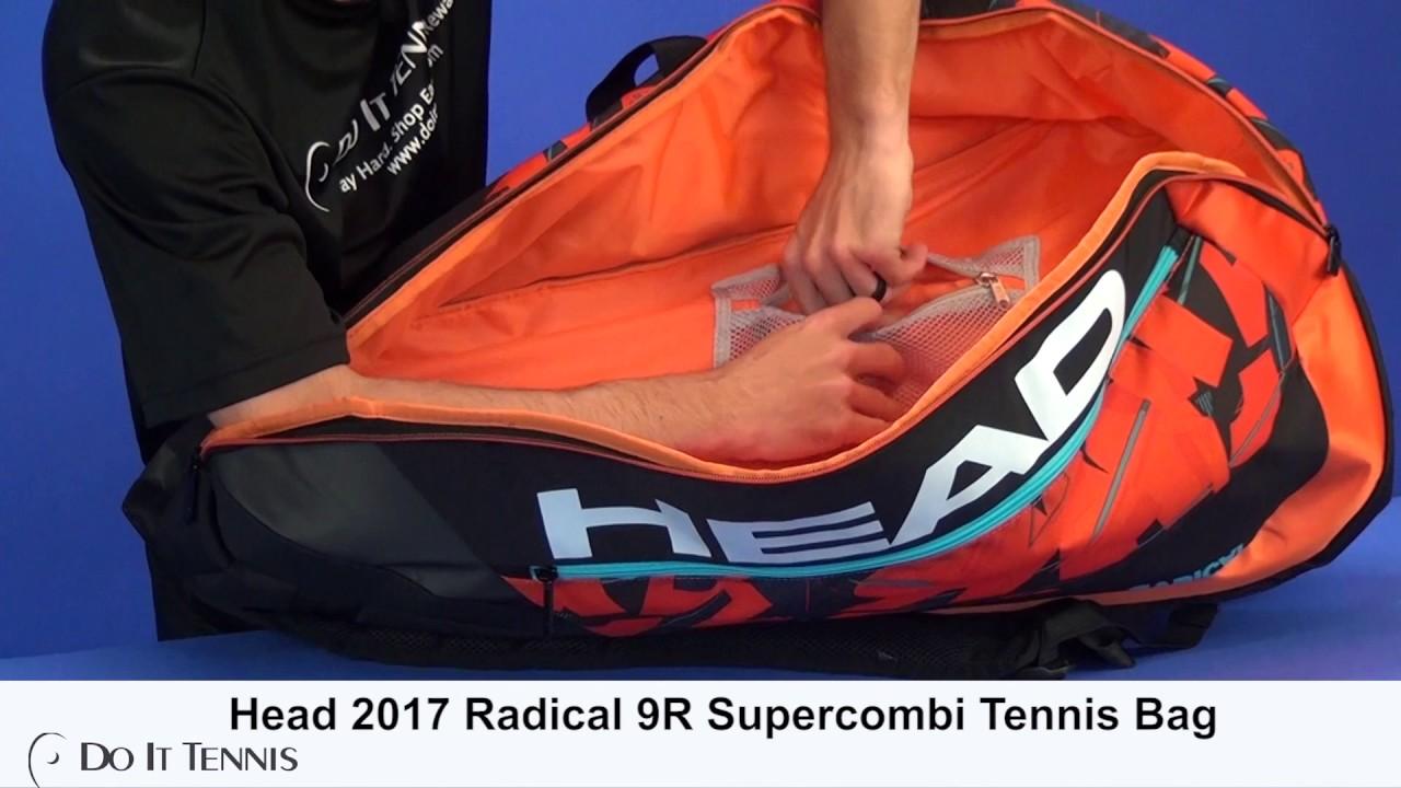 c060ef4934 Head 2017 Radical 9R Supercombi Tennis Bag - YouTube