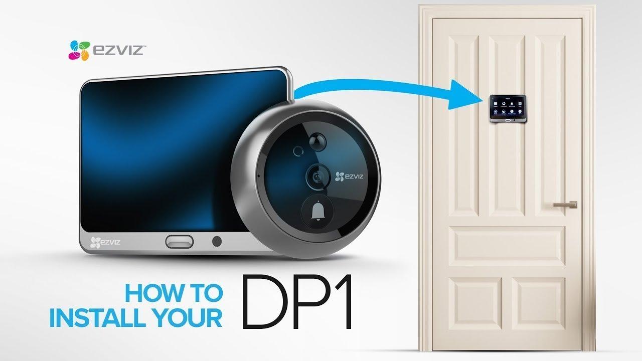 ezviz dp1  EZVIZ | How to Install your DP1 Wire-Free Smart Door Viewer - YouTube