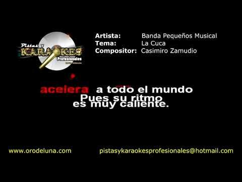 Banda Pequeños Musical LA CUCA karaoke