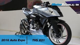 TVS showcases another concept motorcycle and this time it's the X21...
