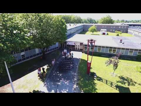 Aerial view of Edward LIttle High School
