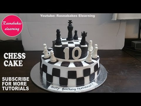 chess cake kids birthday ideas design decorating tutorial video classes courses