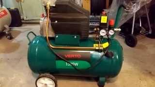 Обзор : Компрессор воздушный verto 50литров 206 л/м 1500watt(Небольшое описание компрессора от компании Verto Topex Group производства Польшы ., 2015-02-02T08:56:27.000Z)