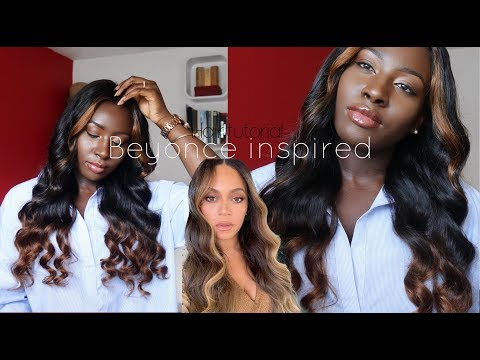 BEYONCE INSPIRED BROWN GIRL CHOCOLATE HIGHLIGHTS HAIR TUTORIAL  | OOZZ HAIR REVIEW thumbnail