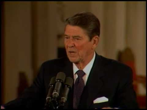 President Reagan's 26th Press Conference in the East Room on July 24, 1984