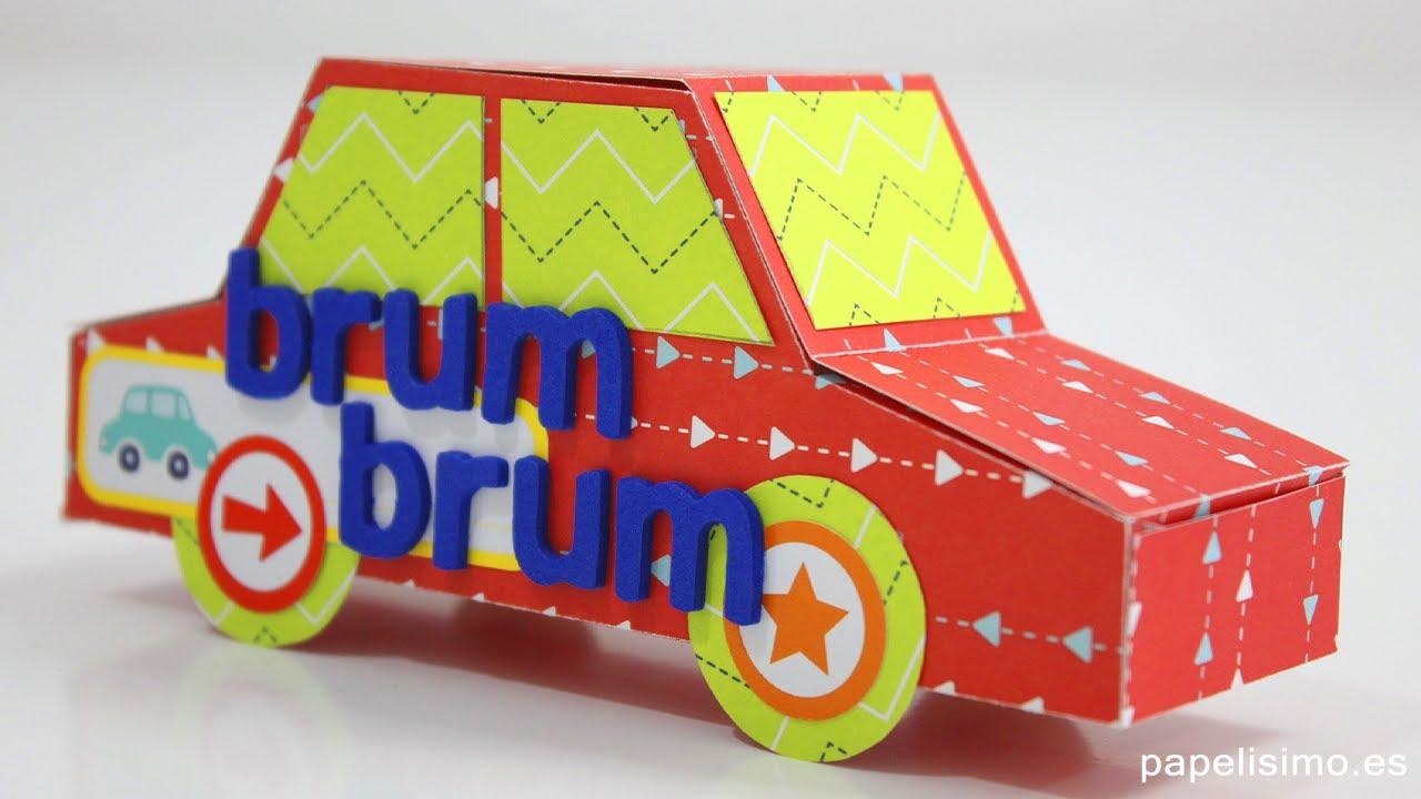 Cómo hacer coche de papel (con plantillas) - YouTube