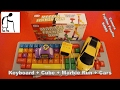 Keyboard Cube Marble Run Cars