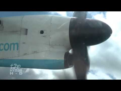 Flybe Dash 8 G-KKEV London Stansted Airport to Newquay Cornwall Flying Video