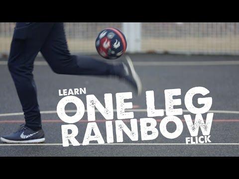 Learn One Leg Rainbow flick football skill - Day 37 of 90