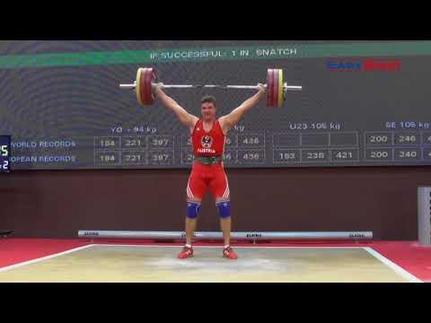 FLORIAN KOCH - Reißen 151, 156, 158kg - 2017 EUROPEAN CHAMPIONSHIPS JUNIOR & U23