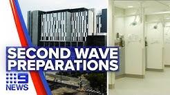 Coronavirus: Hospital upgrades in preparation for second wave   Nine News Australia
