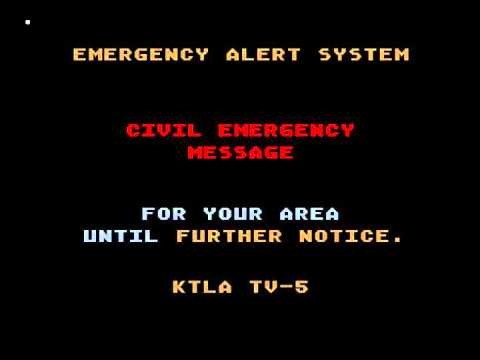 Los Angeles Nuclear attack emergency  alert system