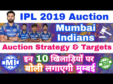 IPL 2019 Auction - Mumbai Indians Auction Strategy & 10 Targeting Players