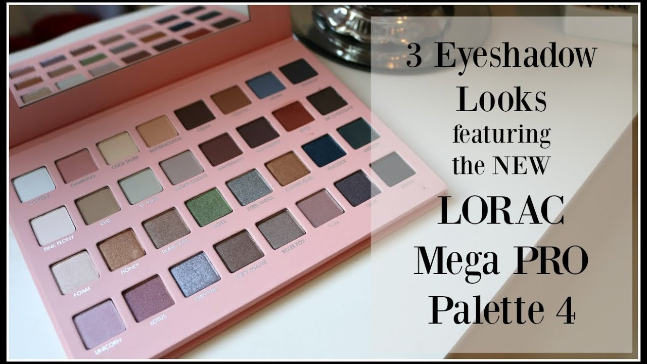 3 looks with the new lorac mega pro palette 4 youtube