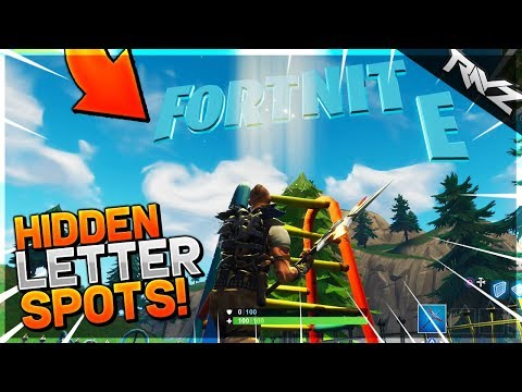 """""""SEARCH F-O-R-T-N-I-T-E LETTERS"""" LOCATIONS! ALL HIDDEN LETTER SPOTS - Fortnite: Battle Royale"""
