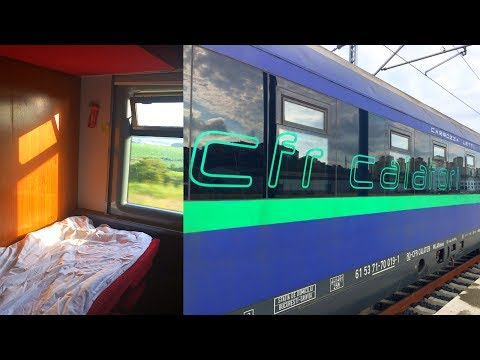 Train Bucharest - Istanbul Halkali in Empty CFR Sleeping Car