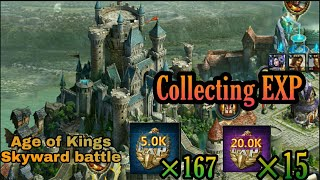collecting 5k exp x167 | Age of Kings Skyward battle screenshot 2