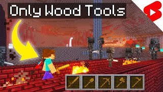 Minecraft Speedrun, But With Only Wooden Tools
