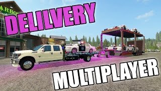 FARMING SIMULATOR 2017 | LUXURY CAR DELIVERY + COP CARS | MULTIPLAYER