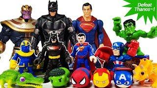 Thanos vs Marvel Avengers & DC Heroes, Go~! Spider Man, IronMan, Ca...