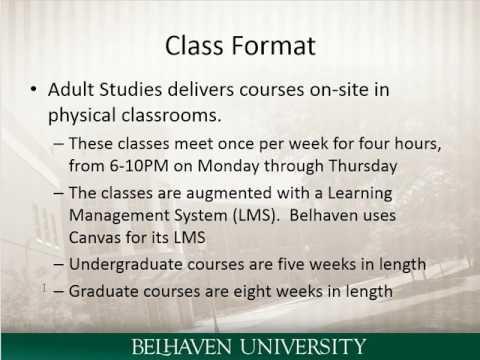 Belhaven Adult Studies Overview