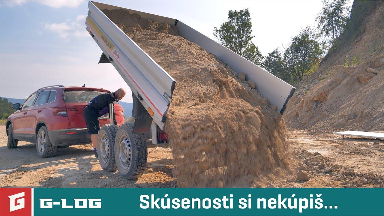 G-LOG#56 - Škoda Karoq brzdí s naloženým prívesom - GARÁŽ.TV - Rasťo Chvála - YouTube