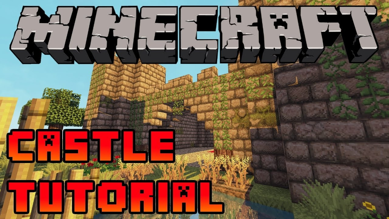minecraft how to build a castle tutorial xbox ps3 pe