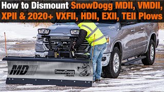 How to Dismount SnowDogg RapidLink Snow Plows (MDII, VMDII, XPII, and 2020+ VXFII, HDII, EXII, TEII)