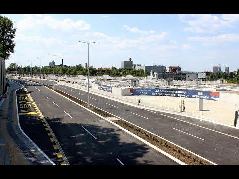 Stanica Prokop - završene gornje pristupne saobraćajnice jun 2017.