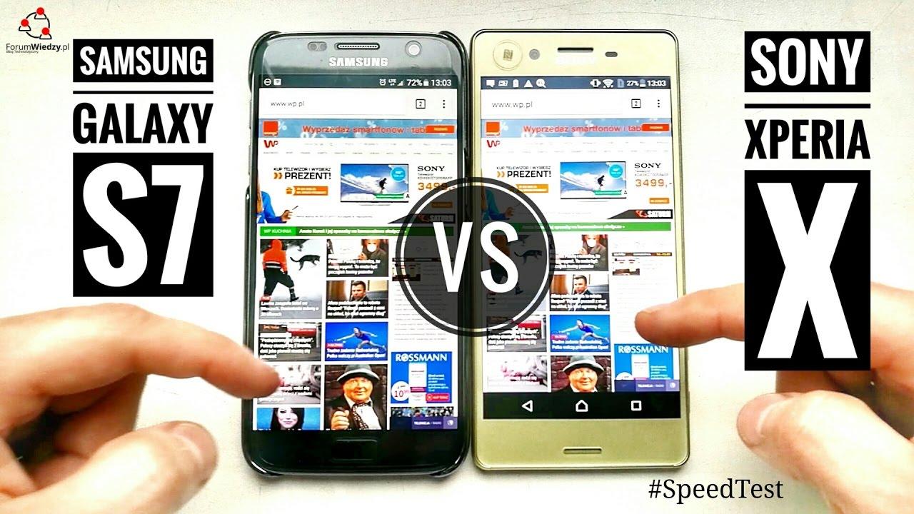 Samsung Galaxy S7 vs Sony Xperia X – #SpeedTest