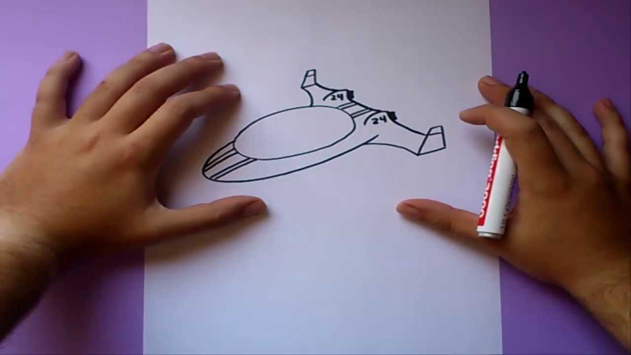Como dibujar una nave espacial paso a paso | How to draw a ...
