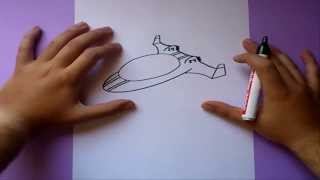 Como dibujar una nave espacial paso a paso | How to draw a spacecraft