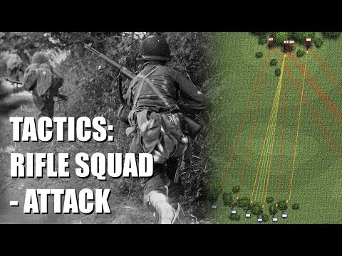 Tactics of the WWII U.S. Army Infantry Rifle Squad – Attack