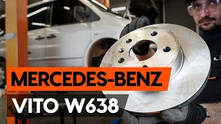 front and rear Brake disc kit installation MERCEDES-BENZ VITO: video manual