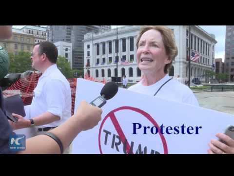Protesters Rally Against Trump At Republican National Convention