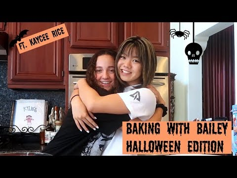 baking with bailey ~ halloween edition !! | bailey sok ft. kaycee rice