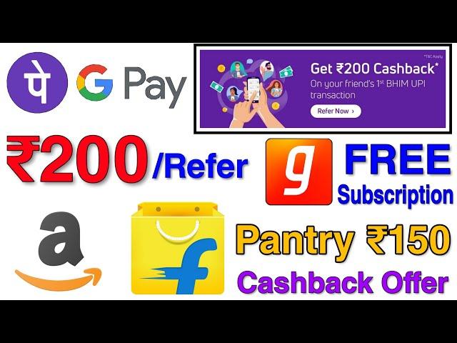 Best Refer & Earn App ₹200/Refer   ₹150 Cashback On Amazon Flipkart Pantry   Free Gaana Subscription
