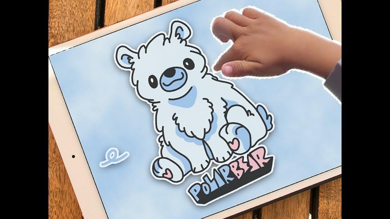 Menggambar Dan Mewarnai Beruang Kutub L Gambar Beruang Kutub