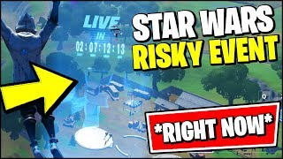 *NEW* FORTNITE STAR WARS EVENT MAP CHANGES AT RISKY REELS *RIGHT NOW*
