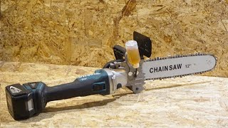 ChainSaw Kit for Electric Angle Grinder - Amazing Gadget!