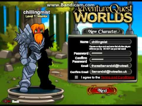 Adventure quest worlds characters