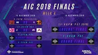 AIC 2018 Semifinals Day 1 - English Rebroadcast
